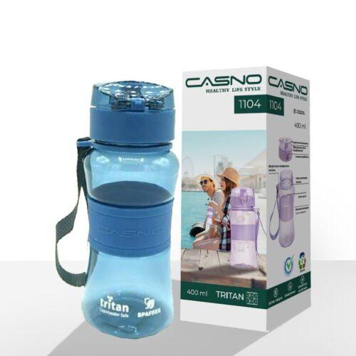 Пляшка для води CASNO 400 мл KXN-1104 Tritan Синя фото 2