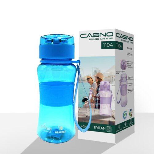 Пляшка для води CASNO 400 мл KXN-1104 Tritan Блакитна фото 2