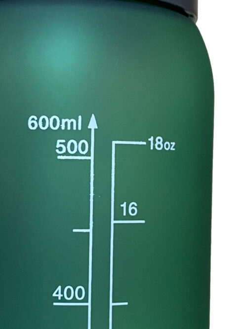 Пляшка для води CASNO 600 мл KXN-1196 Зелена з соломинкою фото 6