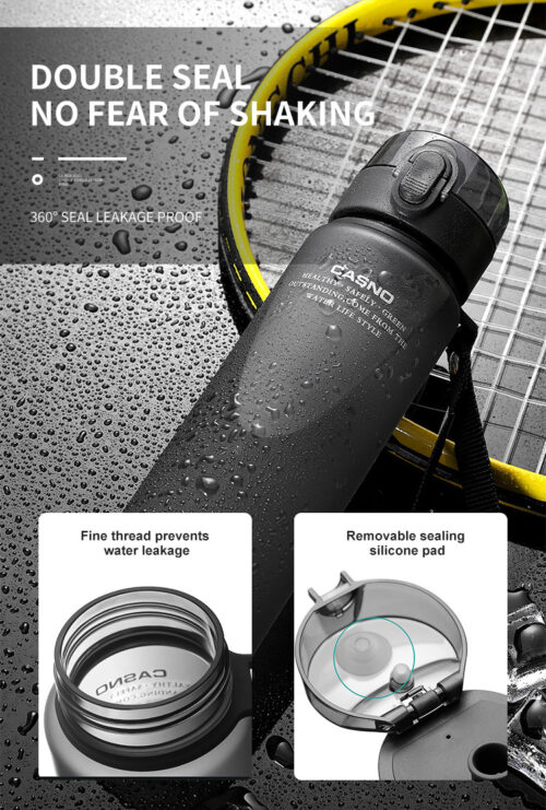 Пляшка для води CASNO 400 мл KXN-1114  Чорна фото 6