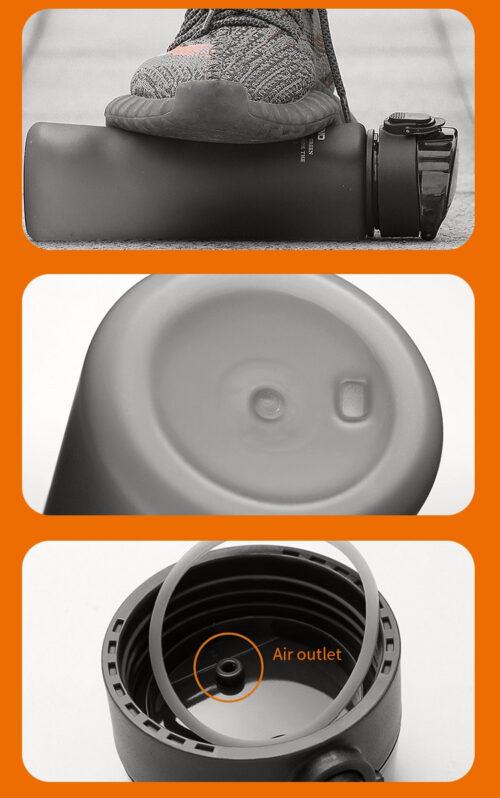 Пляшка для води CASNO 400 мл KXN-1114  Чорна фото 7