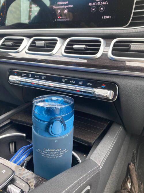 Пляшка для води CASNO 650 мл KXN-1157 Tritan Синя фото 7