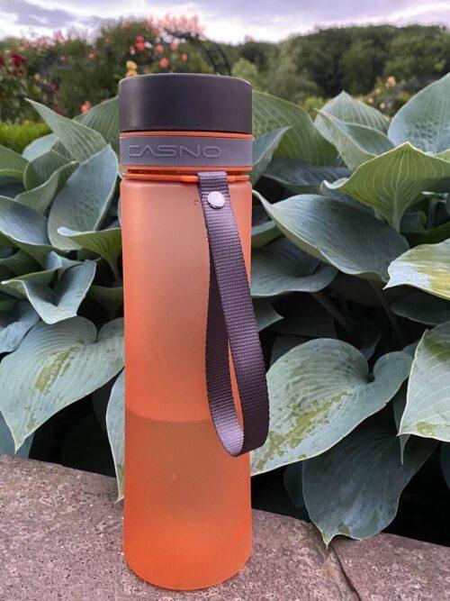 Пляшка для води CASNO 1000 мл KXN-1111 Помаранчева фото 3