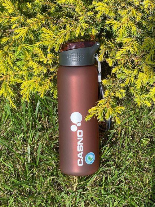 Пляшка для води CASNO 600 мл KXN-1196 Червона з соломинкою фото 7