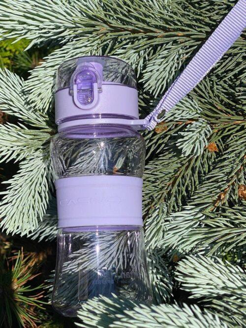 Пляшка для води CASNO 400 мл KXN-1104 Tritan Фіолетова фото 7
