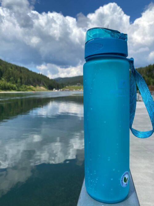 Пляшка для води CASNO 1000 мл MX-5041 More Love Блакитна фото 4