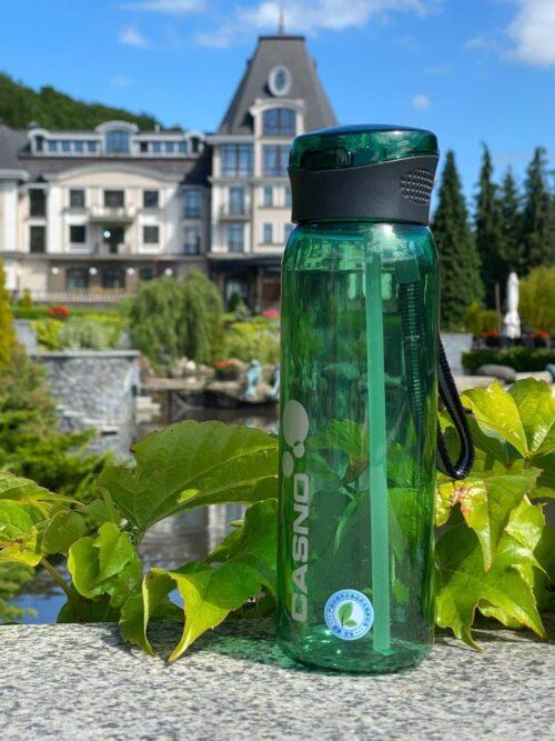 Пляшка для води CASNO 600 мл KXN-1211 Зелена з соломинкою фото 3